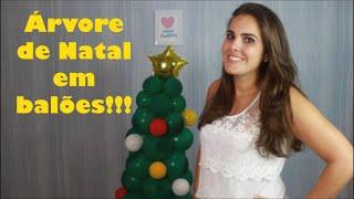 Neste vídeo você aprende passo a passo como fazer uma linda árvore de balões para enfeitar seu natal!!!  www.amofestas.com