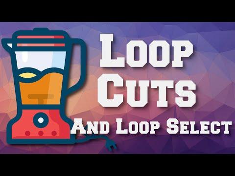 Loop Cuts and Loop Select with Blender 2.9x