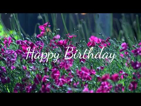 Happy Birthday Wishes :) [Ecard - Flowers] 🌼 Mp3