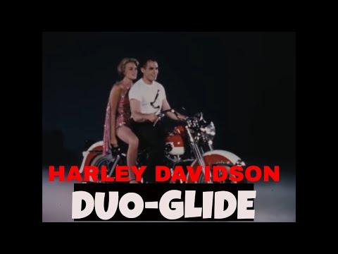 HARLEY DAVIDSON MOTORCYCLE SALES FILM 1950s DUO-GLIDE 42904