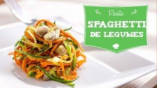 Receita de Espaguete de Cenoura e Abobrinha