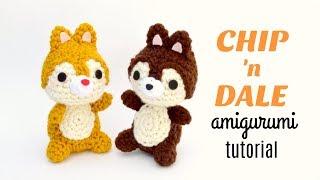 Crochet Chip And Dale | Chipmunk Amigurumi Tutorial