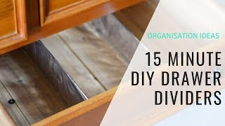 15 MINUTE DIY DRAWER DIVIDERS // Using Cardboard