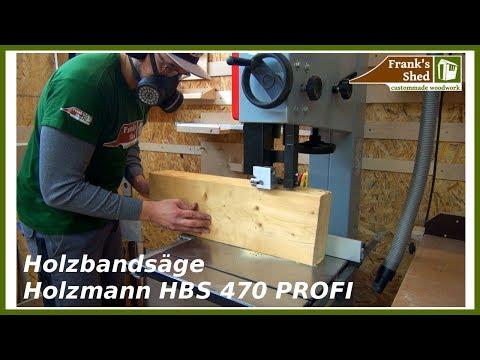 PROFI Bandsäge für Heimwerker | Test - einstellen - arbeiten | Holzmann HBS 470  🔥 Franks Shed 🔥