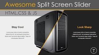 Awesome Split Screen Slider Using CSS3 & JavaScript