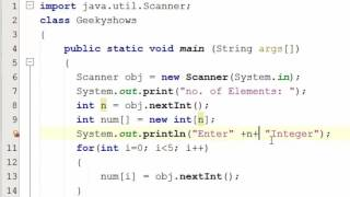 73. Dynamic Memory Allocation in One Dimensional Array Java Programming (Hindi)