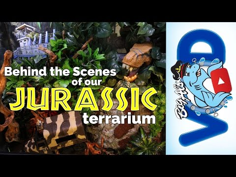 Behind the Scenes of our JURASSIC TERRARIUM! (Video)