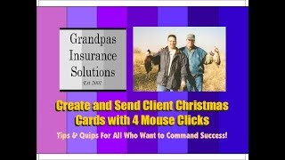 Create & Send all your Christmas Cards Fast to your Clients
