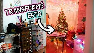 CONVERTÍ Mi CUARTO En El TALLER DE SANTA!! 🎅🎄 *TRANSFORMACIÓN EXTREMA* 😱 Craftingeek