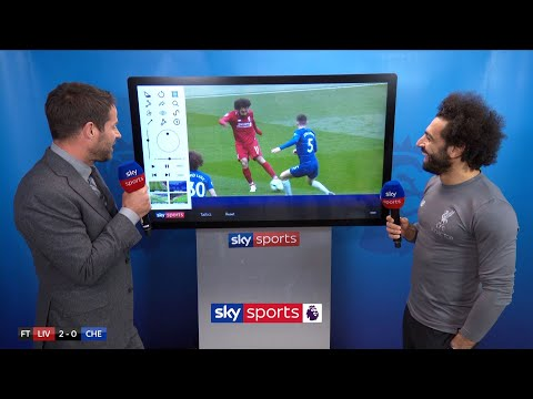 Mo Salah reacts to his SCREAMER against Chelsea! | Super Sunday