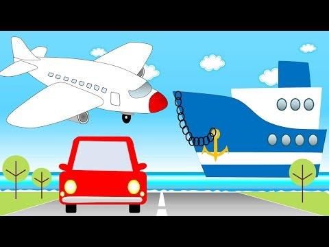Carros para niños - Transporte para niños - Carros, Motos, Aviones, Barcos