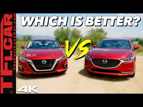 We Get Behind The Wheel Of The 2019 Nissan Altima And Mazda 6 - And The Results Aren't Surprising