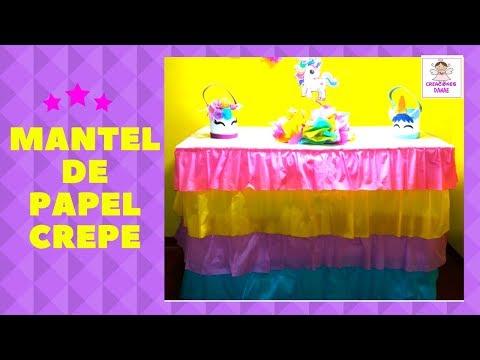 DIY|COMO HACER UN MANTEL CON PAPEL CREPE