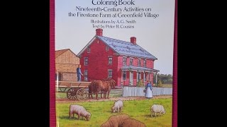 Old-fashioned Farm Life Coloring Book (flip Through)