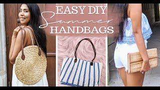 DIY purses using PLACE MATS! | DIY tote, clutch & straw bag (Dollar Store Hack)