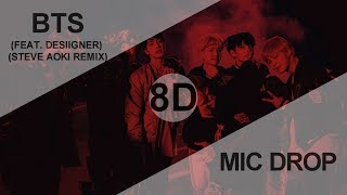 Gambar cover BTS (방탄소년단) - MIC DROP (FEAT. DESIIGNER) (STEVE AOKI REMIX) [8D USE HEADPHONE] 🎧