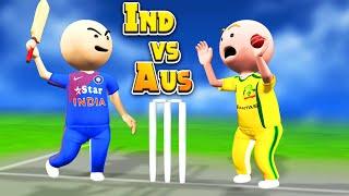3D ANIM COMEDY - CRICKET || INDIA VS AUSTRALIA || 2ND ODI || LAST OVER