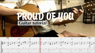 Proud Of You | Guitar Solo (Full Tab Easy)