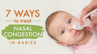 How to Treat Nasal Congestion in Babies?
