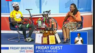 Friday Guest:James Mwaura,1st African cyclist to participate Trans-Siberian race in Russia