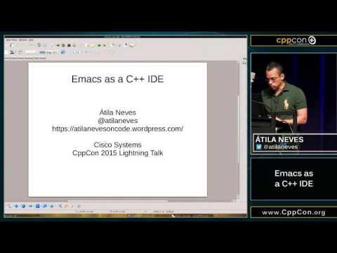 CppCon 2015 Lightning talk on cmake-ide