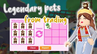 How to get *LEGENDARY PETS* from TRADING in Adopt Me