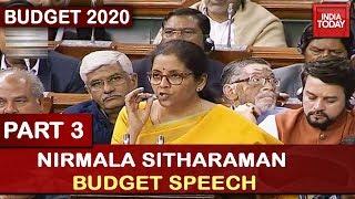 Nirmala Sitharaman Budget Speech 2020 | Part 3