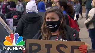 Dueling Michigan Rallies Stir Divisiveness, Each Group Heavily Armed   NBC News NOW