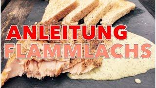 PERFEKTEN FLAMMLACHS selber grillen ANLEITUNG --- Klaus grillt