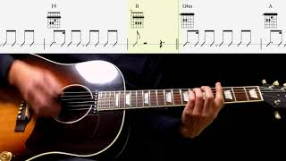 Guitar TAB : Ask Me Why (Rhythm Guitar) - The Beatles