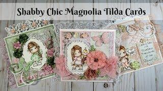 **SOLD** Shabby Chic Magnolia Tilda Cards