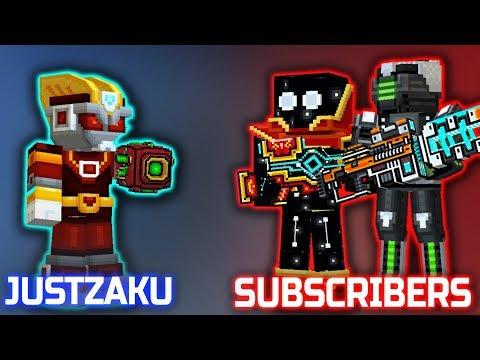 JustZaku VS Subscribers - Pixel Gun 3D : Duel Mode