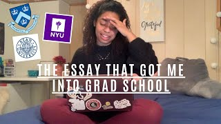 HOW TO WRITE A PERSONAL STATEMENT FOR GRAD SCHOOL