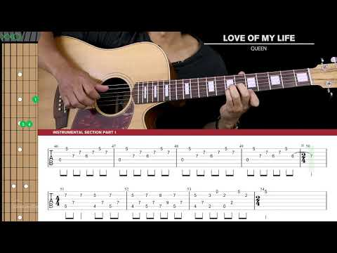 Download Love Of My Life Guitar Cover Acoustic Fingerpicking - Queen 🎸 |Tabs + Chords| Mp4 HD Video and MP3