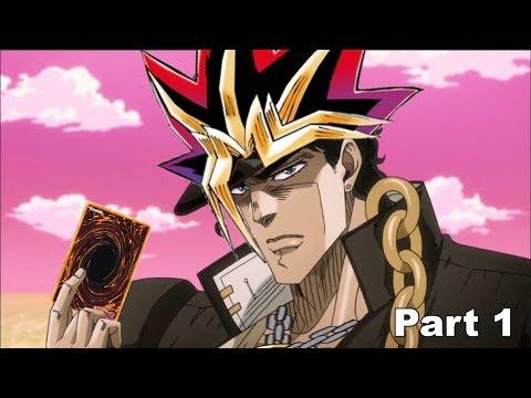來看JOJO承太郎打遊戲王啊 XD
