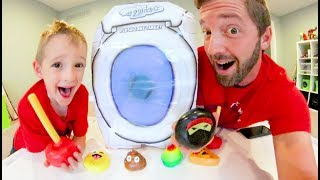 Father & Son STICKY NINJA TARGET PRACTICE! / Plungers, Pizza, & More!