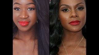 Tika Sumpter inspired simple Red Lip Make Up Look