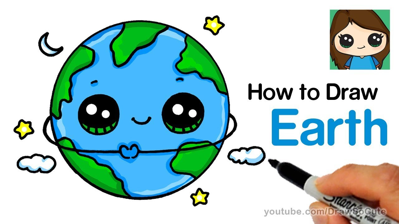 ᐅ Descargar Mp3 De How To Draw A Cute Earth Gratis Grantono
