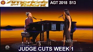 Us the Duo Husband Wife Band Original Song Stop Just Love America's Got Talent 2018 Judge Cuts 1 AGT
