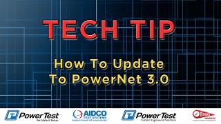 Upgrade PowerNet Software