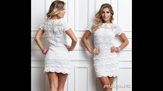 Белое Платье Крючком - 2017 / White Hook Dress / Weiß Crochet Kleid