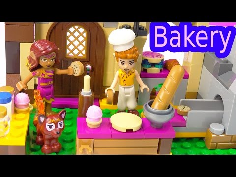 Fantasy LEGO Elves Azari and the Magical Bakery Playset Toy Review Unboxing Video Cookieswirlc