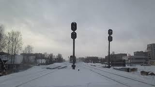"""""""Почти замёл снегом"""" Снегоочиститель СДПМ-2734 с тепловозом 2ТЭ10У-0040"""