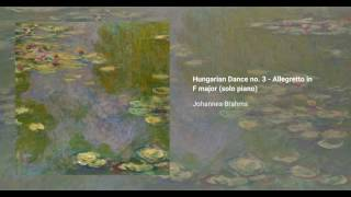 Hungarian Dance no. 3 in F major, WoO 1 (solo piano)