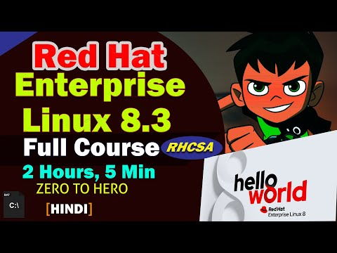 RedHat Linux 8 Full Course for beginner to expert [HINDI] RHCSA ...