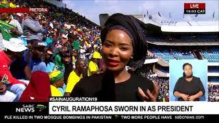 President Cyril Ramaphosa inauguration wraps up