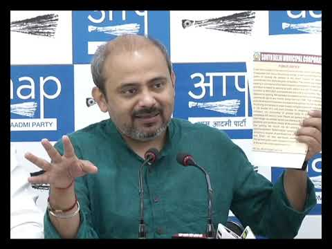 Senior AAP Leader Dilip Pandey along with Councillors Exposed South Delhi Malls Parking Scam