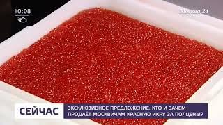 Кто и зачем продает москвичам красную икру за полцены   теле
