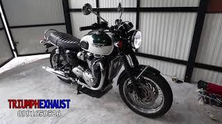 triumph bonneville t120 sound exhaust - TH-Clip