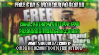 free modded accounts ps4 gta 5 email and password